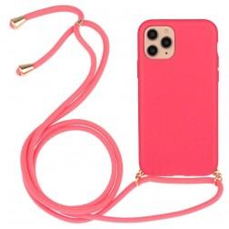 """Strap"" cieta silikona (TPU) apvalks - rozs (iPhone 12 / 12 Pro)"