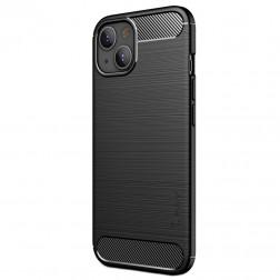 """""""IPAKY"""" Carbon cieta silikona (TPU) vāciņš - melns (iPhone 13)"""