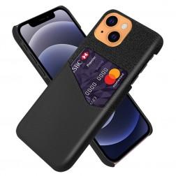 """""""KSQ"""" Shell ādas apvalks - melns (iPhone 13)"""
