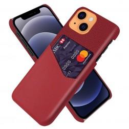 """""""KSQ"""" Shell ādas apvalks - sarkans (iPhone 13)"""