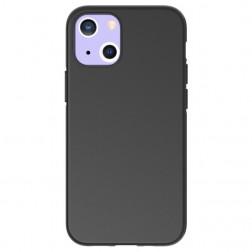 Cieta silikona (TPU) apvalks - melns (iPhone 13 Mini)