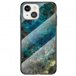 """Marble"" cieta silikona (TPU) apvalks - zils (iPhone 13 Mini)"