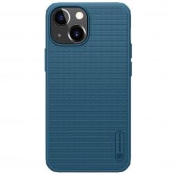 """Nillkin"" Frosted Shield Pro apvalks - zils (iPhone 13 Mini)"