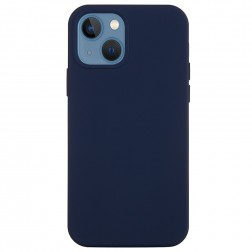 """Shell"" cieta silikona (TPU) apvalks - zils (iPhone 13 Mini)"