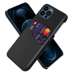 """KSQ"" Shell ādas apvalks - melns (iPhone 13 Pro Max)"