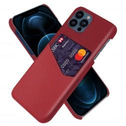 """KSQ"" Shell ādas apvalks - sarkans (iPhone 13 Pro Max)"