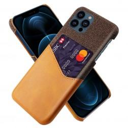 """KSQ"" Shell ādas apvalks - brūns (iPhone 13 Pro Max)"