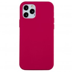 """Shell"" cieta silikona (TPU) apvalks - tumši rozs (iPhone 13 Pro Max)"