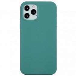 """""""Shell"""" cieta silikona (TPU) apvalks - tumiši zaļš (iPhone 13 Pro Max)"""