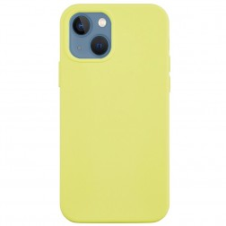 """Shell"" cieta silikona (TPU) apvalks - dzeltens (iPhone 13)"