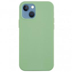 """Shell"" cieta silikona (TPU) apvalks - gaiši zaļš (iPhone 13)"