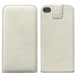 Vertikāli atvēramais futrālis - balts (iPhone 4 / 4S)