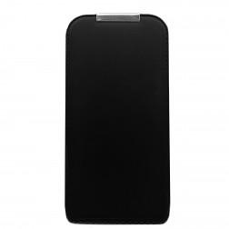 Vertikāli atvēramais futrālis - melns (iPhone 4 / 4S)