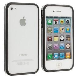 Rāmis (bamperis) - dzidrs, melns (iPhone 4 / 4S)