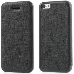 """""""JZZS"""" atvēramais futrālis - melns (iPhone 5C)"""