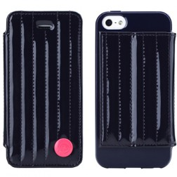 """""""8thdays"""" Jessie's Melody atvērams futrālis - tumši zils (iPhone 5 / 5S)"""