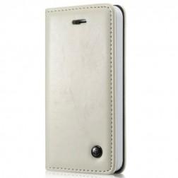 """""""CaseMe"""" solīds atvēramais ādas maciņš - balts (iPhone 5 / 5s)"""