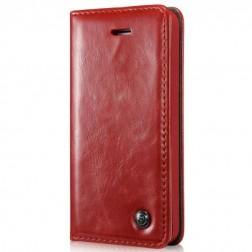 """""""CaseMe"""" solīds atvēramais ādas maciņš - sarkans (iPhone 5 / 5s)"""