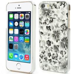 """Ziedi"" plastmasas apvalks - melns (iPhone 5 / 5S)"