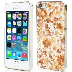 """Ziedi"" plastmasas apvalks - oranžs (iPhone 5 / 5S)"