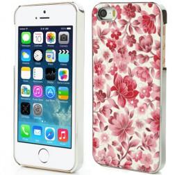 """Ziedi"" plastmasas apvalks - sarkans (iPhone 5 / 5S)"