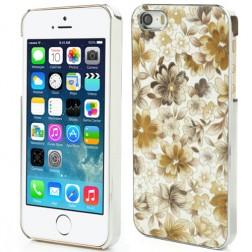 """Ziedi"" plastmasas apvalks - dzeltens (iPhone 5 / 5S)"