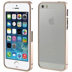 Stilīgs rāmis (bamperis) - šampanieša (iPhone 5 / 5S)