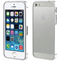 Stilīgs rāmis (bamperis) - sudraba (iPhone 5 / 5S)