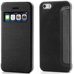 """""""S-View"""" stila atvēramais futrālis - melns (iPhone 5 / 5S)"""