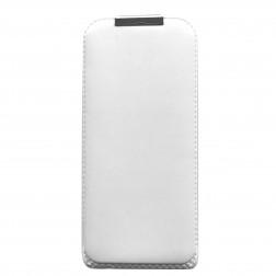 Vertikāli atvēramais futrālis - balts (iPhone 5 / 5S / SE)