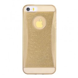 """Devia"" Shining TPU dzidrs apvalks - zelta (iPhone 5 / 5S / SE)"