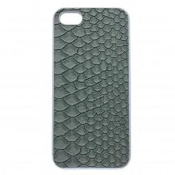 """""""Leather"""" plastmasas apvalks - pelēks (iPhone 5 / 5S / SE)"""