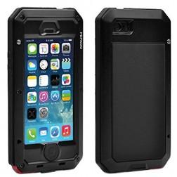 """""""Pepkoo"""" Ultimate pastiprinātas aizsardzības apvalks - melns (iPhone 5 / 5S / SE)"""