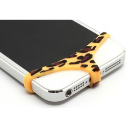 Telefona apakšbikses - dzeltena, leoparda