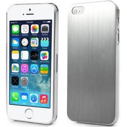 Slīpēta metāla apvalks - sudrabs (iPhone 5 / 5S)