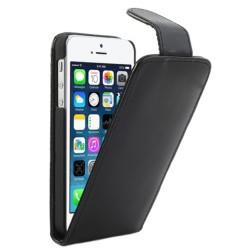 Klasisks atvēramais futrālis - melns (iPhone 5 / 5S)