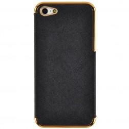 """Gold"" llegants futrālis - melns (iPhone 5 / 5S)"
