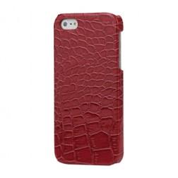 Telefona apvalks ar krokodila ādas imitāciju - sarkans (iPhone 5 / 5S)