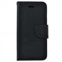 """Fancy"" atvēramais maciņš - melns (iPhone 5 / 5S / SE)"