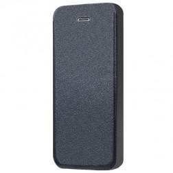 """""""Shiny"""" solīds atvēramais ādas maciņš - melns (iPhone 5 / 5S / SE)"""