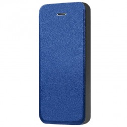 """""""Shiny"""" solīds atvēramais ādas maciņš - zils (iPhone 5 / 5S / SE)"""
