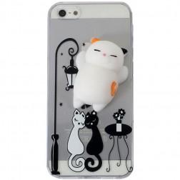 """Squezy"" Cat cieta silikona (TPU) apvalks - dzidrs (iPhone 5 / 5s / SE)"