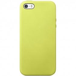 Cieta silikona (TPU) apvalks - dzeltens (iPhone 5 / 5S)