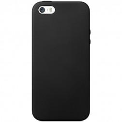 Cieta silikona (TPU) apvalks - melns (iPhone 5 / 5S)