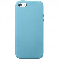 Cieta silikona (TPU) apvalks - gaiši zils (iPhone 5 / 5S)
