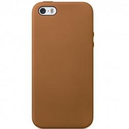 Cieta silikona (TPU) apvalks - gaiši brūns (iPhone 5 / 5S)