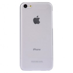 """""""Baseus"""" planākais futrālis - balts + ekrāna aizsargplēve (iPhone 5C)"""