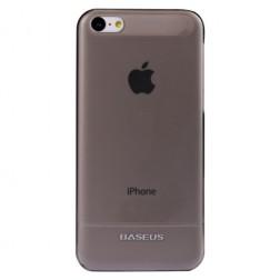 """""""Baseus"""" planākais futrālis - melns + ekrāna aizsargplēve (iPhone 5C)"""