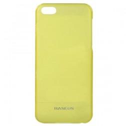 """""""Baseus"""" plastmasas futrālis - dzeltens + ekrāna aizsargplēve (iPhone 5C)"""