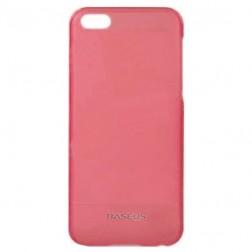 """""""Baseus"""" plastmasas futrālis - rozs + ekrāna aizsargplēve (iPhone 5C)"""